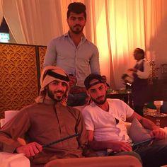 With the boys at @-almajles , Dubai world trade centre ..