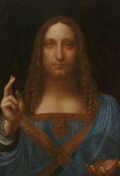 """""""Salvator Mundi"""", olio su pannello di Leonardo Da Vinci (1452-1519, Italy)"""