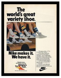 Retro photos From the 70s | Vintage Nike ad Tennis Air Ace 1988 thanks to : Vintage Alliance
