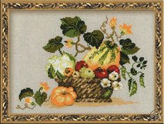 Still Life With Squash - Cross Stitch Kits by RIOLIS - 1076