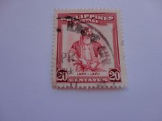 20 Lapu Philippines Postage Stamp