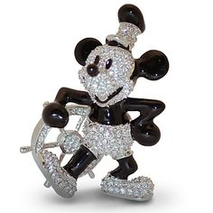 Jeweled Steamboat Willie Mickey Mouse Figurine by Arribas     http://www.disneystore.com/jeweled-steamboat-willie-mickey-mouse-figurine-by-arribas/mp/1313951/1000276/