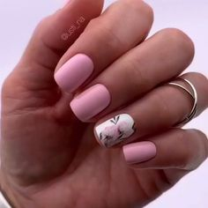 Floral Nail Art, Pink Nail Art, Purple Nails, Green Nails, Summer Acrylic Nails, Best Acrylic Nails, Acrylic Nail Designs, Gel Manicure Designs, Spring Nails