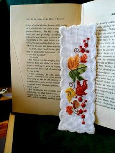 Autumn Leaves Cross Stitch Bookmark from The Elegant Stitchery