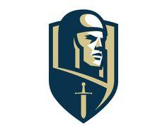 Warrior by Ognjen Topic - Dribbble Logo Branding, Branding Design, 1 Logo, Team Logo, Vector Logos, Football Logo Design, Logo Dragon, Warrior Logo, Soccer Logo