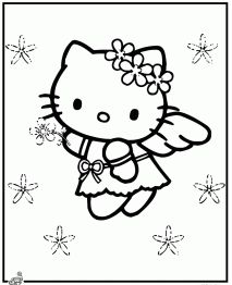 Free Hello Kitty Coloring Pages...You need to print these for Josie! @Bethany Kendrick