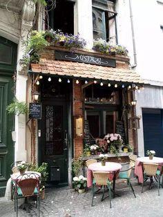 Cafe in Antwerp, Belgium