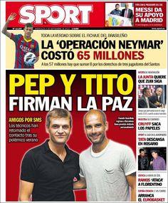 Los Titulares y Portadas de Noticias Destacadas Españolas del 4 de Septiembre de 2013 del Diario Sport ¿Que le pareció esta Portada de este Diario Español?
