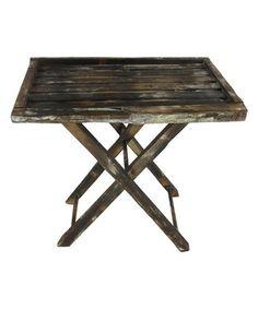 Vintage Wooden Folding Table #zulilyfinds
