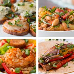 Featuring Sheet-Pan Steak Fajitas, Sheet-Pan Jambalaya, Tuscan White Beans and Sweet Potato Pizza Bites