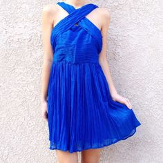 | new | blue evening dress offers welcome new with tag size 8 blue evening dress with thick crossing straps and back zipper. •671084• BB Dakota Dresses Mini