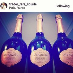 More #triplets ?! Hello #champagnealexandra - on vous aime! Merci @trader_rare_liquide @laurentperrierus #champagne #wine #paris #france #grandecuvee #rose