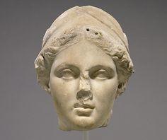 Head of Athena, by an unknown Greek artist, 160-150 B.C.