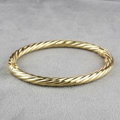 Pre-Owned 18 Karat Yellow Gold Bangle with Safety Clasp  $295.00