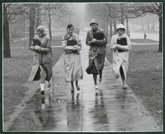 """There's nothing like a little rain to bring people together."" - friends running down Linden Lane"