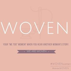 "#WOVENwomen: I love to read stories by women/ about women who have walked through the toughest moments in life and came out with a song of joy in their hearts. In the process of writing WOVEN I consumed my moments of writers block reading books from the library written by women about their stories. I played #aseatatthetable on repeat day and night and I reveled in OUR stories. || So much of my engagement on social media is centered around these moments of ""me too girl"" and bringing a voice…"