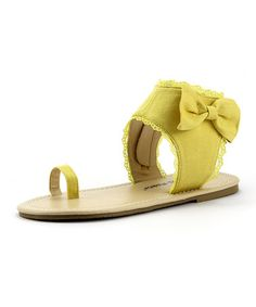 This Yellow Toe Ring Sandal by The Doll Maker is perfect! #zulilyfinds