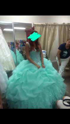Mint green quince dress