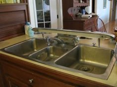 66 best antique retro kitchen faucets and sinks ideas for new rh pinterest com