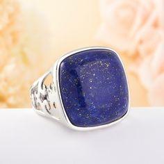 Кольцо лазурит (серебро) размер 18,5