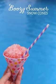 Boozy Summer Snow Cones