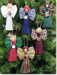 Wrights classroom offers a project for Christmas - Tassel Angels. Homemade Ornaments, Homemade Christmas, Christmas Crafts, Christmas Decorations, Birthday Decorations, Angel Crafts, Christmas Projects, Holiday Crafts, July Crafts