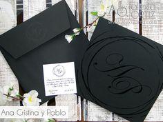 Invitaciones de boda elegantes en negro y blanco / invitaciones de boda / wedding invitations / black & white