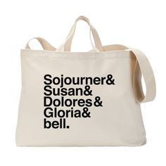 Famous Feminists Tote Bag - Sojourner Truth, Susan B. Anthony, Dolores Huerta, Gloria Steinem and bell hooks. Womens Rights Feminism, Famous Feminists, Gloria Steinem, Reusable Tote Bags, Inspirational Quotes, My Style, Bell Hooks, Women's Rights, Girl Power