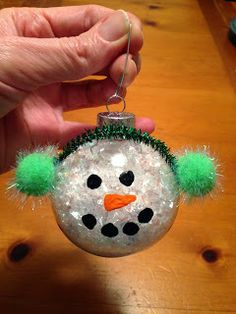 Pin It, Make It: 25 Crafts for Christmas: Day 13 - Snowman Ornament.