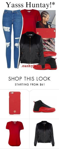 """""""Untitled #586"""" by dtx-jada ❤ liked on Polyvore featuring Tory Burch, NIKE, MICHAEL Michael Kors, Glamorous and Topshop"""