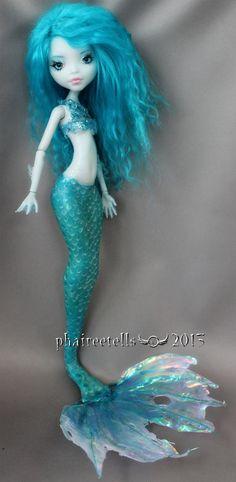 Monster high repaint Lagoona Aqua Mermaid by phairee004.deviantart.com on @deviantART