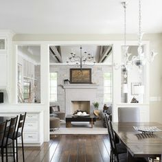 separate spaces yet open concept