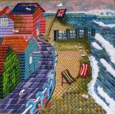 Canvas stitches Bargello Needlepoint, Needlepoint Stitches, Needlepoint Canvases, Needlework, Embroidery Needles, Embroidery Applique, Cross Stitch Embroidery, Plastic Canvas Crafts, Embroidery Techniques