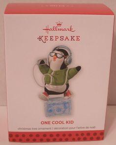 Hallmark Ornament 2013 One Cool Kid Penguin NIB NEW Christmas Holiday Tree Decor