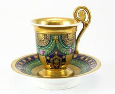 Antique and Vintage Porcelain - For Sale at Tea Cup Set, My Cup Of Tea, Cup And Saucer Set, Tea Cup Saucer, Teapots And Cups, Teacups, Antique Tea Cups, Cuppa Tea, Tea Art