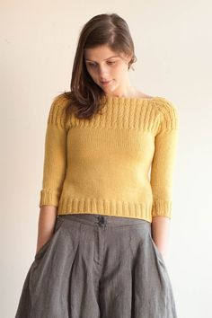 petra pullover knitting pattern - Quince and Co