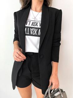 Look at this Stylish casual fashion women 2019 Style Outfits, Mode Outfits, Short Outfits, Classy Outfits, New Outfits, Trendy Outfits, Summer Outfits, Fashion Outfits, Cheap Fashion