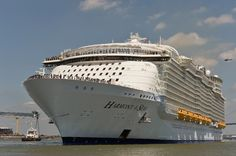 Saint-Nazaire (France) (AFP) - Tens of thousands of people turned out Sunday in France to see off the world's biggest-ever cruise ship, the 120,000-tonne Harmony of the Seas, as it set sail for the first time.  At 66 metres (217 feet), it is the widest cruise ship ever built, while its 362-metre