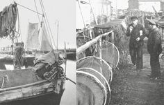 Fischerboote am Fischereihafen (1917)