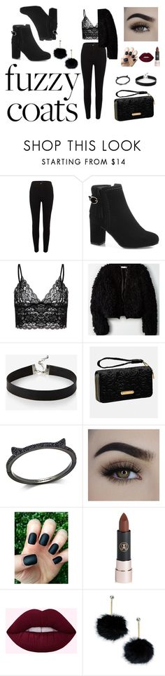 """""""Fuzzy coats"""" by ivaylay ❤ liked on Polyvore featuring River Island, American Eagle Outfitters, Express, Avenue, Kate Spade, Anastasia Beverly Hills, cute, MustHave, soft and cozy"""