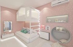 Es de niñas, adaptarlo para niños Montessori Room, Kids Bedroom, Baby Bedroom, Teen Girl Bedrooms, Bedroom Decor, Cool Rooms, Awesome Bedrooms, Dream Rooms, Dream Bedroom
