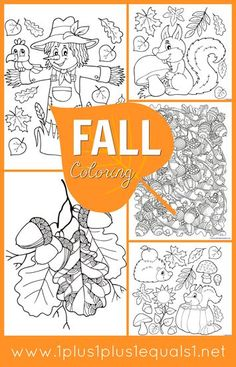 "We have a new set of fall coloring pages for you!  The idea behind ""  Just Color!  "" is simple ~ theme packs all focused around coloring. The coloring pages are all in one download to make it easier to download and print all at once, in case you have coloring monsters like I do! Remember, if you want to make a mini coloring book, you can always  scale down PDF files ! If you have any problems do..."