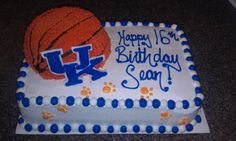 Kentucky Wildcats Birthday Cake - Sheet cake is the wildcats logo a fbct