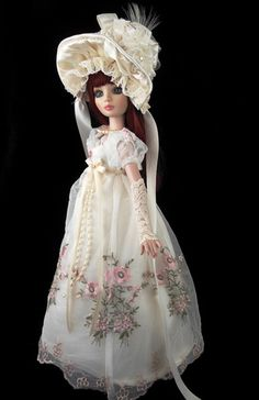 Regency Jane Austen Gown Fits Ellowyne Tonner Little Charmers Doll Designs | eBay Sold for $313!