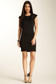 Ruffle Sleeve Dress. Little black dress.