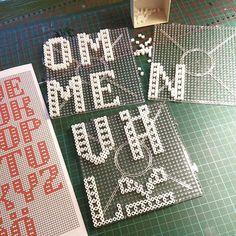 Letters hama perler beads by lindakarolinasjoberg