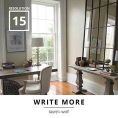 Finally get started on that novel we've all been waiting to read. A serene home office is the perfect place to tell your story. #31Resolutions #GetYourDesignOn