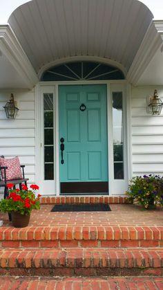 I Painted Our Front Door Benjamin Moore Stratton Blue Love It Will Keep The Screened Door