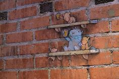 Street Art Utopia » We declare the world as our canvas » Calk Art by David Zinn in Michigan, USA 0543965