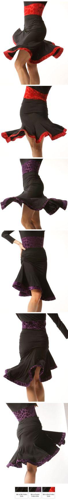 Lumiere Jitterbug Latin Dance Skirt S1 Julie Williams, Latin Dance Dresses, Ballroom Dance, Dance Outfits, Dress Skirt, Salsa, Dancing, Art Ideas, Polka Dots